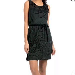 Desigual circle mesh geometric jersey knit dress